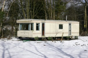 snow on static caravan parks