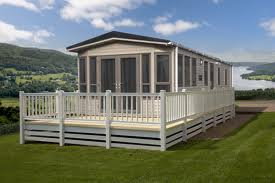 Decking around a Static Caravan