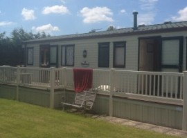 Static caravan to rent on Waldegraves Holiday Park Mersea Island Essex