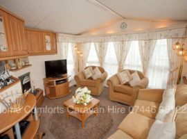 Beautiful Dog Friendly Willerby Winchester caravan has central heating, double glazing, tv's in all bedrooms, Sky feed, gated decking.