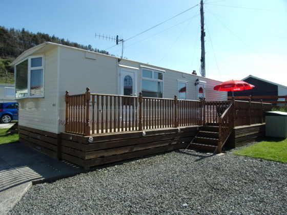 Original Static Caravan Holiday Hire At Halfway Inn Pisgah Aberystwyth