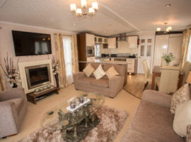 Luxurious top spec Pemberton Park Lane Vista has washer/dryer, dishwasher, fridge/freezer, full size bath, central heating, double glazing, Skyfeed. Master bedroom has en-suite shower room, all bedrooms have tv's. Decking plus small enclosed garden.