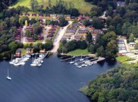 LAKE WINDERMERE;  NUMBER 7 TROUTBECK IS A LUXURY 6/8 BERTH CARAVAN RENTAL ON WHITE CROSS BAY HOLIDAY PARK AND MARINA