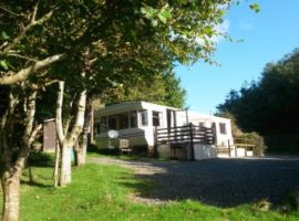 Caravan at Coedrwm Near Fishguard Pembrokeshire